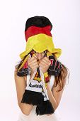 Excited German Soccer Fan Girl
