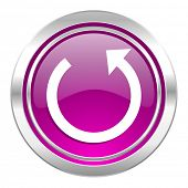 rotate violet icon reload sign