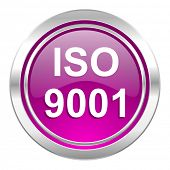 iso 9001 violet icon