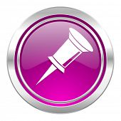 pin violet icon