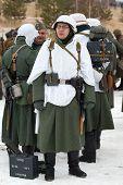 German Soldier In Glasses