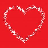White Hand Drawn Thick Contour Grunge Heart logo