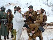 Soviet Soldiers Drinks Vodka