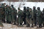 German Soldiers On The Rest - military reenactment