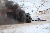 Hanomag Sonderkraftfahrzeug 251 In Fire