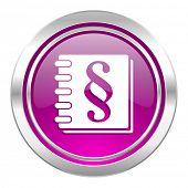 law violet icon