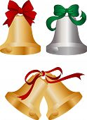 stock photo of christmas bells  - Christmas bells for seasonal promotions and greeting cards - JPG