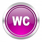 toilet violet icon wc sign