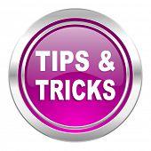 tips tricks violet icon