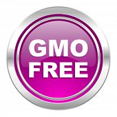 gmo free violet icon no gmo sign