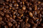stock photo of coffee coffee plant  - Coffee on grunge wooden background Fresh coffee beans on wood and linen bag ready to brew delicious coffee - JPG