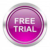 free trial violet icon