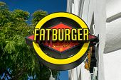 Fatburger Restaurant Sign And Logo