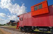 Red Railroad Caboose