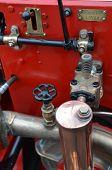 Water pump on British fire engine.