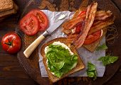 Blt Sandwich (bacon, Lettuce, And Tomato)