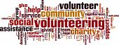 foto of word charity  - Volunteering word cloud concept - JPG