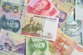 Chinese and Russian currency