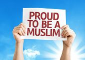 Proud to Be A Muslim card with a beautiful day