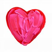 Red and pink painted heart