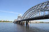 Finland Railway Bridge At Sunny Day