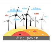 Illustration Of Wind Power