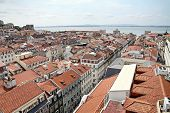 View Of Lisbon From The Elevator  De Santa Justa