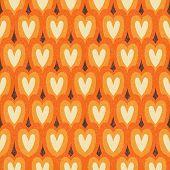 Vintage Japan Style Hearts Seamless Pattern