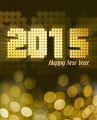 Happy New year 2015 in gold glitter