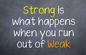 Strong is what happens when