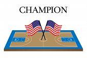 Basketball Champion Court United States