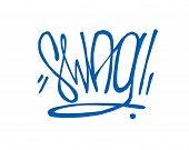 foto of swag  - Hand drawn vector illustration or drawing of the handwritten word - JPG