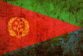 Grunge Eritrea Flag on old paper