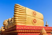 pic of recliner  - Image of Reclining Golden Buddha Feet in the centre of Vientiane Laos - JPG