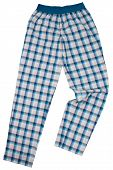 Checkered pijama sweatpants isolated on white