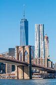 Brooklyn Bridge And New York City Manhattan Skyline