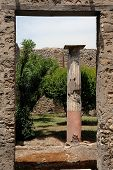 Garden Doorway In Pompeii, Italy