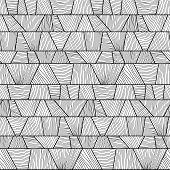 Abstract mosaic wavy Pattern. Seamless vector.