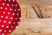 Spanish Dishes With Red Polka Dots
