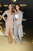 LOS ANGELES - JAN 6:  Christina Milian, Karrueche Tran at the FOX TV