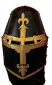 Historic knights helmet armour isolated