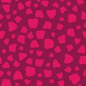 Pink red Seamless Pattern with Strawberries. Sweet magenta.