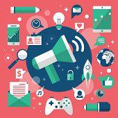 Flat Design Digital Marketing Concept