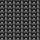 Monochrome African Ornamental Pattern. Stylized Seamless texture with waves.