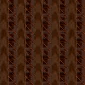 Traditional African Ornamental Pattern. Stylized Seamless texture with Tree Leaves. Warm brown color