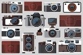 Retro Photo Camera Icons