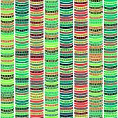 Striped Traditional African Ornament.  Seamless vector pattern.