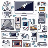 Flat Design Vector Illustration Concept Of Game Environment