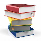 pic of 5s  - Book blank stack of books covers colorful five textbook bookmark - JPG
