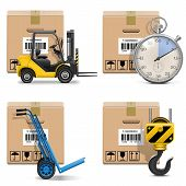 picture of hook  - Vector Shipment Icons Set 12 including carton box - JPG